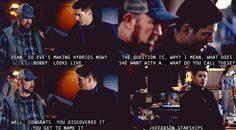When Dean gets to name monsters. Jefferson Starships it is. 6x19 Mommy Dearest.