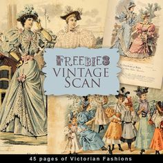 New Freebies Scan - Victorian Fashion:Far Far Hill - Free database of digital illustrations and papers