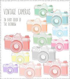 Camera Clip Art Vintage Cameras by AngieMakes on Etsy, $6.00