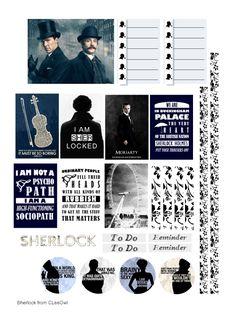 Sherlock Holmes planner stickers