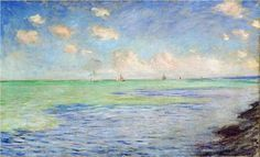 The Sea at Pourville - Claude Monet