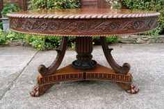 Regency Anglo-indian Padouk Centre Table
