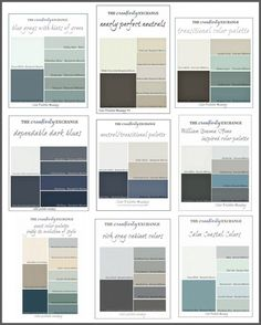 How to choose the right paint colors for your home. All sorts of palettes and tips for the different styles and rooms.