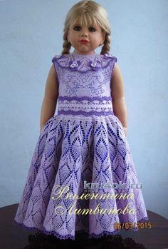 Комплект Фиалка - работа Валентины Литвиновой вязание и схемы вязания