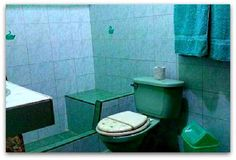 Detalle del Baño completo Vinales, Cuba, Toilet, Bathroom, Horse Drawn Wagon, Washroom, Flush Toilet, Full Bath, Toilets