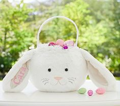 White Bunny Puffy Easter Bag #pbkids