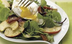 Mixed Greens with Bacon and Poached Egg