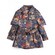 Méline Blue Trench Coat