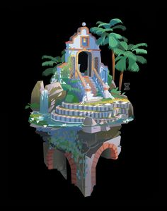 """""""Here is the concept for anyone who hasn't seen. Monument Valley Game, Creative Assembly, New Fantasy, House Drawing, Fantasy Illustration, Environment Design, 2d Art, Environmental Art, Art And Architecture"""