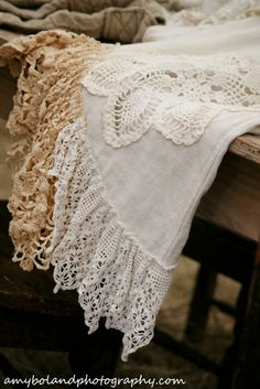 Doing this to a linen tablecloth I have to cover a burn hole. I think the doily will look pretty on it.