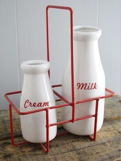 .milk bottles