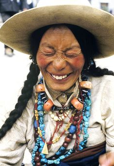 Khampa woman in Lhasa, Tibet.by Jørgen Flemming