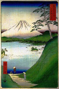 Hiroshige - Thirty-six Views of Mount Fuji, 30. Kai misakagoshi