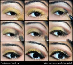 #soft #gold #eye #makeup #tutorial #howto Join the community: www.glam-express.com/ @Sara Gulzaib Mua