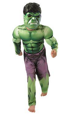 Hulk Deluxe. Hulkin naamiaisasu tarjoaa kantajalleen mahdollisuuden hypätä muskelisankarin haalareihin. Tässä asussa saa vapaasti pullistella lihaksiaan!