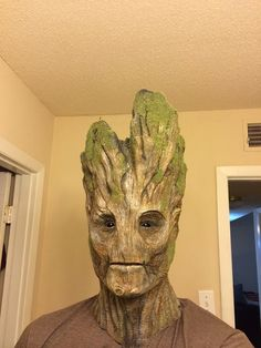 Guardians Of The Galaxy Groot Mask - Oh the things you can buy! - Guardians Of The Galaxy Groot Mask Guardians Of The Galaxy Groot Mask - Cosplay Games, Epic Cosplay, Amazing Cosplay, Cosplay 2016, Male Cosplay, Halloween Kostüm, Halloween Cosplay, Halloween Costumes, Halloween Makeup