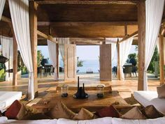 Tropical Homes Bali   ... house open air patio All natural Tropical Balinese Bamboo Green Home
