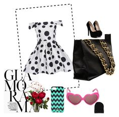 """""""fun"""" by rublege ❤ liked on Polyvore featuring AX Paris, Chanel, Moschino, Kate Spade and Nearly Natural"""