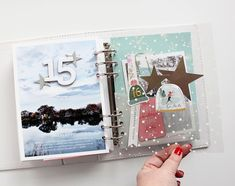 The Picinic Basket: December Daily® 2018 │ Days Fourteen thru Twenty Mini Albums, Daily Journal, Life Journal, Junk Journal, Journal Ideas, Bullet Journal, Diy And Crafts, Paper Crafts, Christmas Arts And Crafts