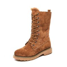 Women Winter Boots Luxury Style Warm Fur Lace Up Fashion Design – Agodeal Heel Boots For Women, Winter Shoes For Women, Snow Boots Women, Furry Boots, Warm Boots, Winter Boots, Winter Snow, Motorcycle Boots, Mid Calf Boots
