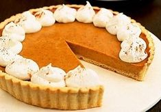 Pay de calabaza Tarte Orange, Sweet Pie, Learn To Cook, Dessert Recipes, Desserts, Pumpkin Recipes, Recipe Collection, Kiwi, Quiche