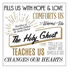 Holy ghost lesson on pinterest holy ghost talk baptism talk and