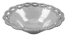 Filigree Individual Bowl | Lucky Den Delicate openwork dances around the borders of textured serving pieces and gifts in our Filigree collection.