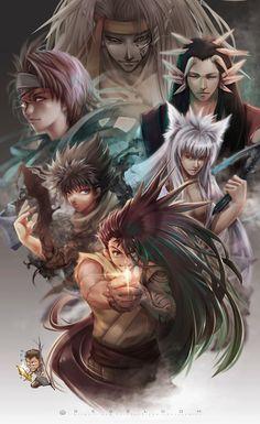 Manga Anime, Anime Art, Classic Cartoon Characters, Anime Characters, Best Shounen Anime, Yu Yu Hakusho Anime, Super Anime, Anime Drawing Styles, Studio Ghibli Art