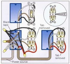 outlet wiring diagram i m pinning a few of these here nice to keep rh pinterest com Double Outlet Wiring Diagram Double Outlet Wiring Diagram