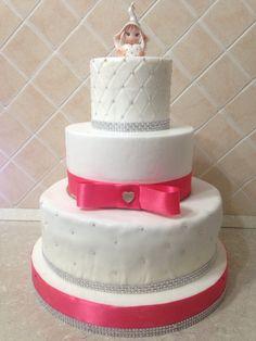 Nuvola di panna, pink&white cake, comunione
