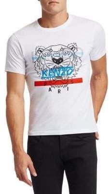 aa166731a201a Kenzo - Hyper Tiger Cotton Screen Print Tee