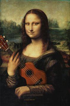 Shut up and play your dang ukulele! Ukulele Art, Cool Ukulele, Ukulele Songs, Ukulele Chords, Ukulele Tumblr, Ukulele Design, Classical Art Memes, Monalisa, Music Images