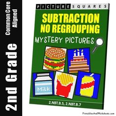 Grade 2 Subtraction Without Regrouping Mystery Pictures Coloring Worksheets Coloring Worksheets, Coloring Pages, 2nd Grade Math Worksheets, Color Activities, Addition And Subtraction, Grade 2, Have Fun, Mystery, Lettering