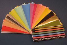 Museum of Forgotten Art Supplies - Pantone Letrafilm Matt Selector by Letraset - Color Tools
