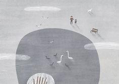 Gray illustration by Nastia Sleptsova