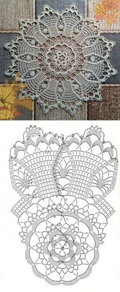 (◡ ‿ ◡ ✿) — so pretty *-* finished doily photo is from Elena...