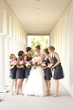 Navy & Pink Wedding / Stephanie A Smith Photography / Floridian Weddings