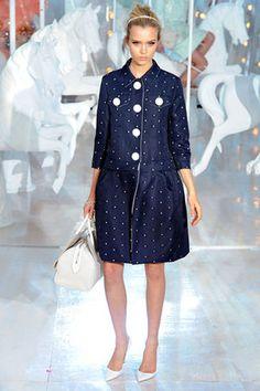 Louis Vuitton Spring 2012 RTW Polka Dot Coat Profile Photo