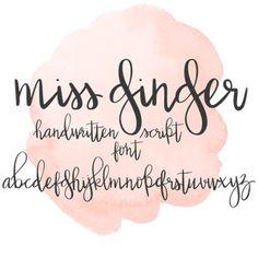 Silhouette Design Store: Miss Ginger Font Doodle Fonts, Doodle Lettering, Lettering Styles, Doodle Art, Hand Lettering Alphabet, Graffiti Alphabet, Monogram Fonts, Free Monogram, Monogram Letters