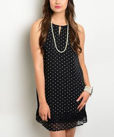 Another great find on #zulily! Black Swiss Dots Sleeveless Dress #zulilyfinds