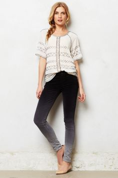 Mother Looker Velvet Jeans - anthropologie.com