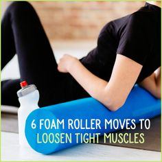 If your muscles are in knots and feeling tight, the foam roller might be the easiest fix you& ever found. Try these 6 moves to loosen tight muscles! Hip Flexor Exercises, Pilates Reformer Exercises, Knee Exercises, Pilates Yoga, Knee Stretches, Tight Back Muscles, Benefits Of Foam Rolling, Foam Roller Stretches, Psoas Release