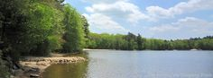 View of #Yawgoog Pond from the Ashaway Aquatics Center on the Orange Trail.  A 2015 Facebook cover photo by David R. Brierley.