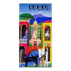 Vintage Spain Travel Poster