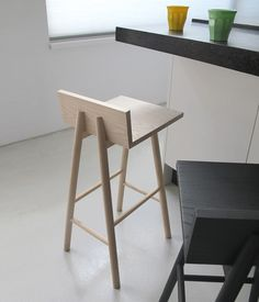 The basic design of the solid ash wood Barfly stool, makes it possible to fit in many interiors. For living and public spaces. The Barfly stool is available with a seat height of 66 and 76cm. You can find the colors under this link: http://www.neildavid.com/eng/collection/colors/ .