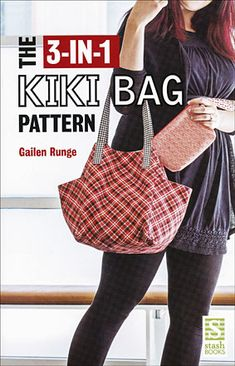 "Read ""The Kiki Bag Pattern"" by Gailen Runge available from Rakuten Kobo. Sew a tempting trio of bags that works well together or separately - great for shopping trips, a weekend getaway, or dat. Bag Patterns To Sew, Sewing Patterns Free, Free Sewing, Sewing Tips, Sewing Tutorials, Bag Tutorials, Tote Pattern, Sewing Hacks, Sac Vanessa Bruno"