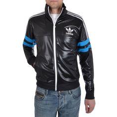 nuovo mens adidas originali cile 62 track top media (m), giacca nera