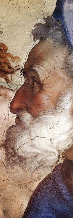 The Great MICHELANGELO di Ludovico Buonarroti Simoni (1475-1564)  Famous Italian painter, sculpture. Native of Caprece, Florence, ITALY