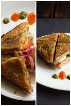 bombay veg toast sandwich - I just had this in Bombay. Absolutely yum!