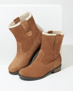 Cozy suede booties | Sole Society Verona